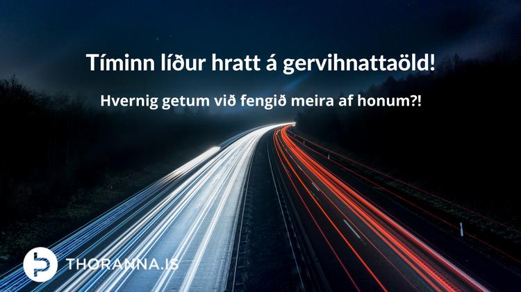 tíminn líður hratt - thoranna.is