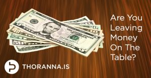 Content Marketing money on the table