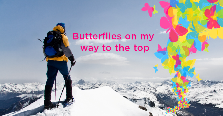 Butterflies on my way to the top