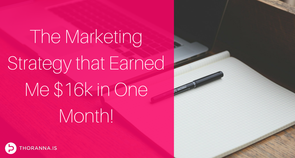 Blog - marketing strategy that earned me $16k in one month (1)