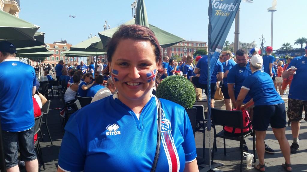 Thoranna Nice Iceland v England Euro 2016