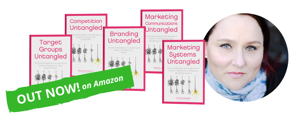 Marketing Untangled Book Series featured on website